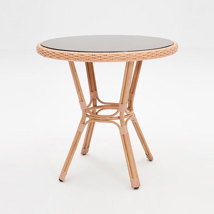 AHT-281/라탄테이블 인테리어 카페 철재 야외 테이블