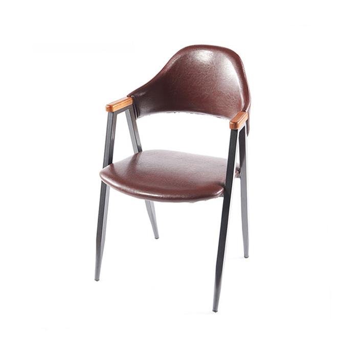 AK 비올렛우드/업소용 식당 식탁 의자 철제 카페 체어