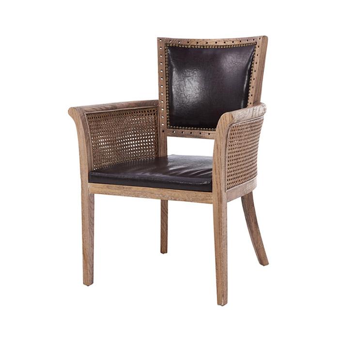 AKW 체코/천연 라탄 의자 고급 원목 식탁 카페 체어