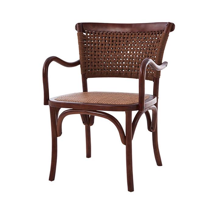 AKW 알라딘/천연 라탄 의자 고급 원목 식탁 카페 체어