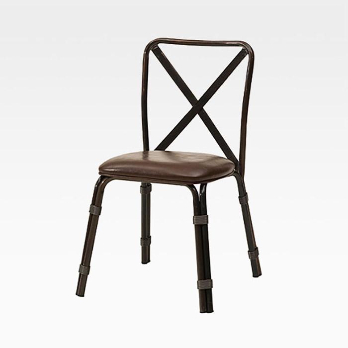 AKS 오엑스 PU(인조가죽)방석 철재 의자