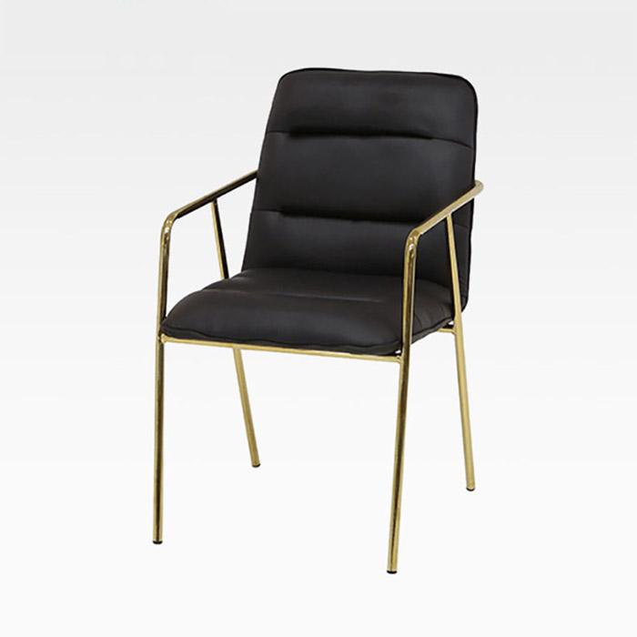 AKG-501 PU(인조가죽) 골드 철재 의자