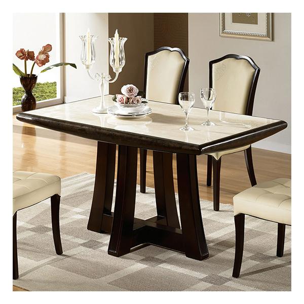 카라 투톤 대리석 4인식탁테이블
