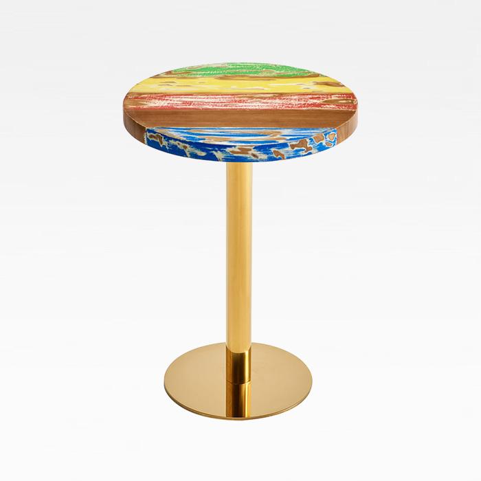 CET-110 랜덤 무늬목 800원형 스테인리스 테이블