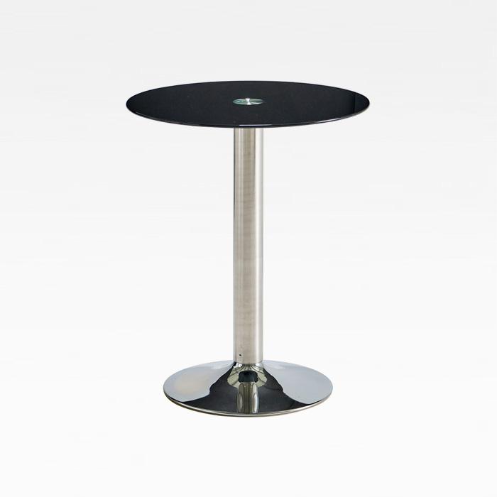 CET-06 강화유리 800원형 크롬 테이블