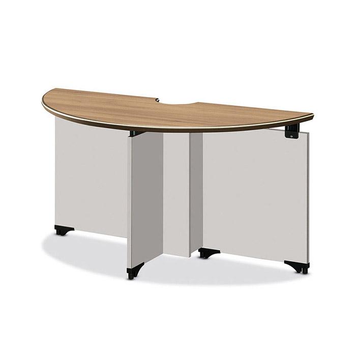 TOP 연결형테이블 반달(화이트하부)/회의용 사무 가구