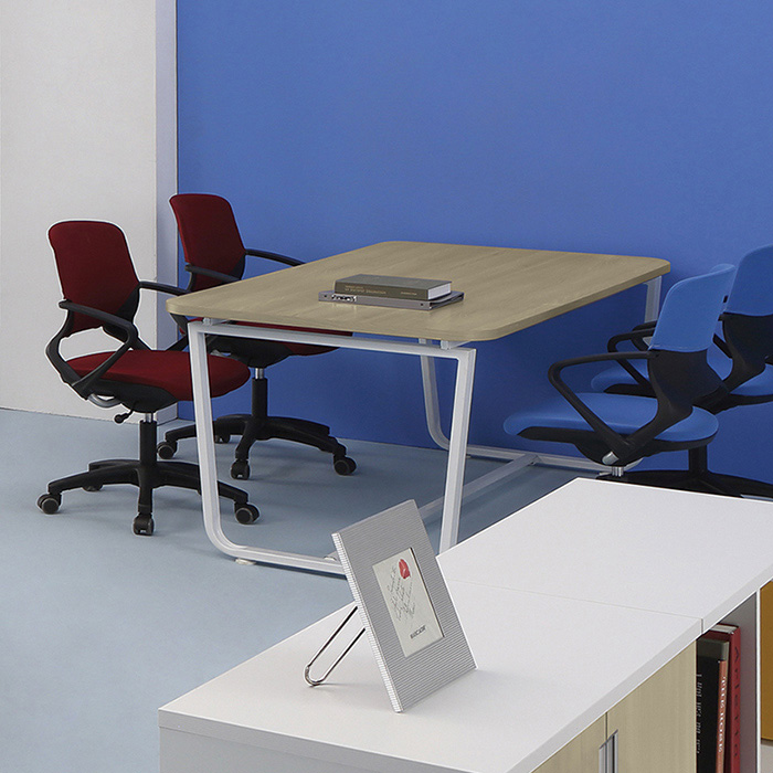 U-LINE 회의용 테이블(화이트)/사무실 사무용 가구