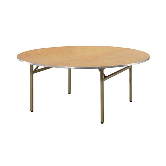 CLT 접이식 철재 테이블(UV합판 1.5T,알루미늄몰딩)