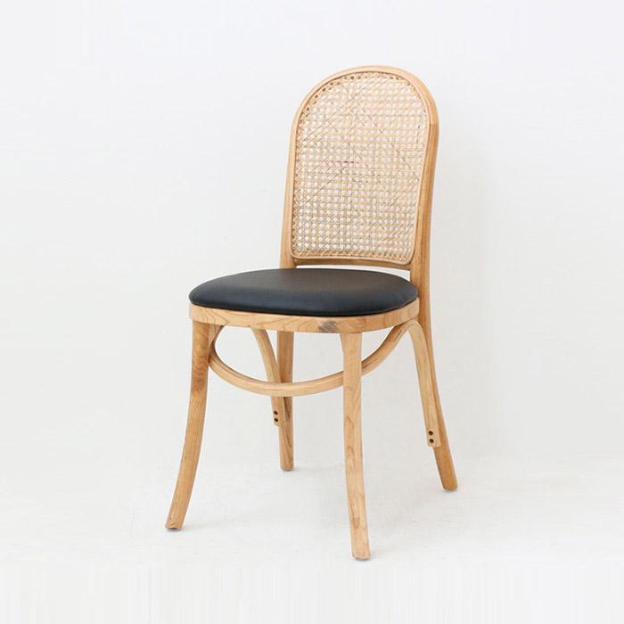 EDW 레이(천연라탄)/원목 식탁 의자 카페 체어