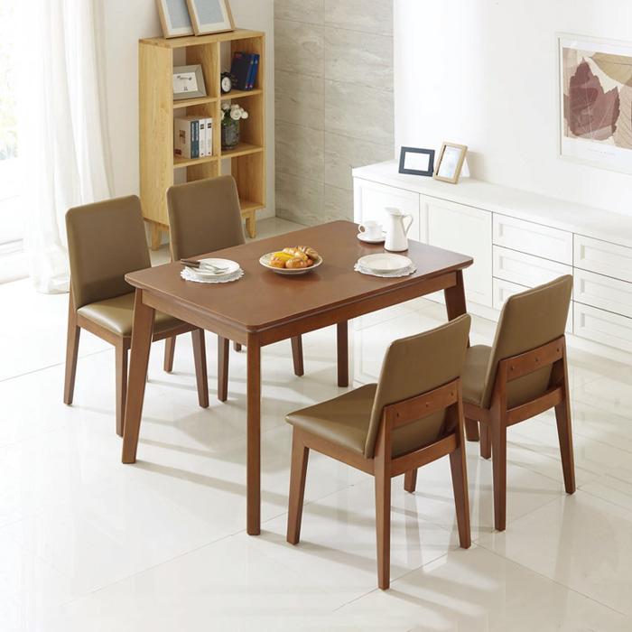 DL001 4인식탁테이블(브라운)