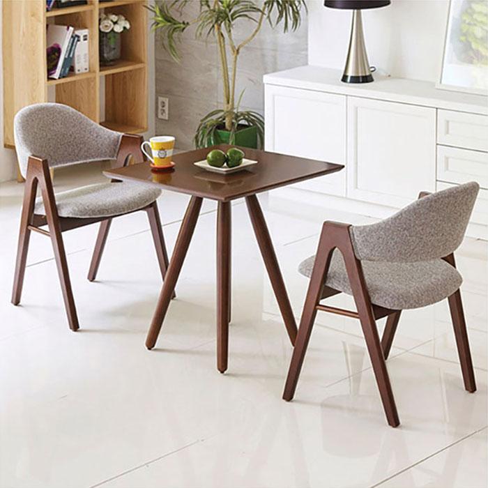 우드브라운 사각 러브테이블/의자별매