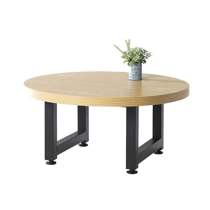 에클라 원형 소파테이블/인테리어 원목 카페 좌탁