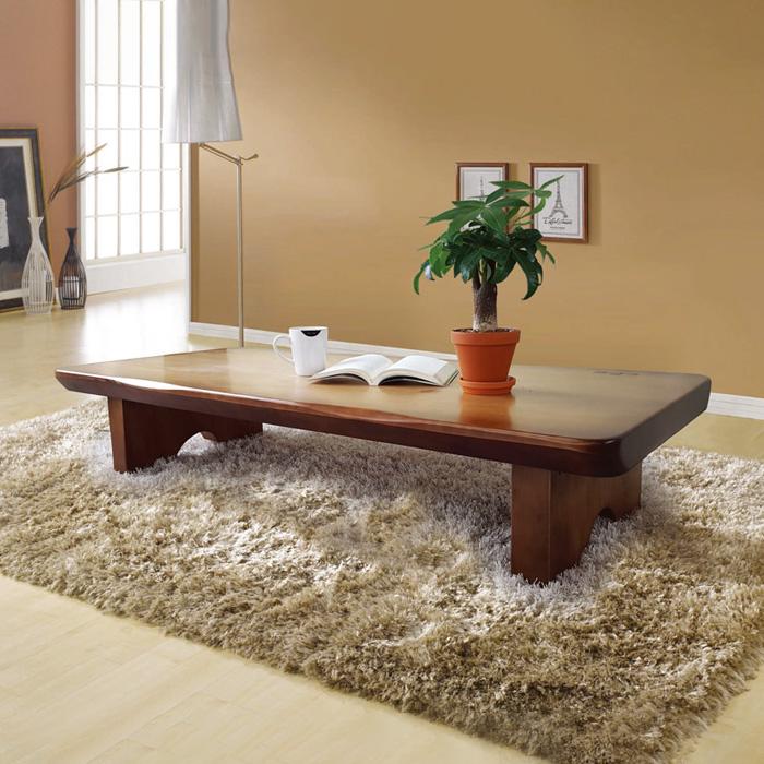 해송 소나무 통원목 좌탁테이블