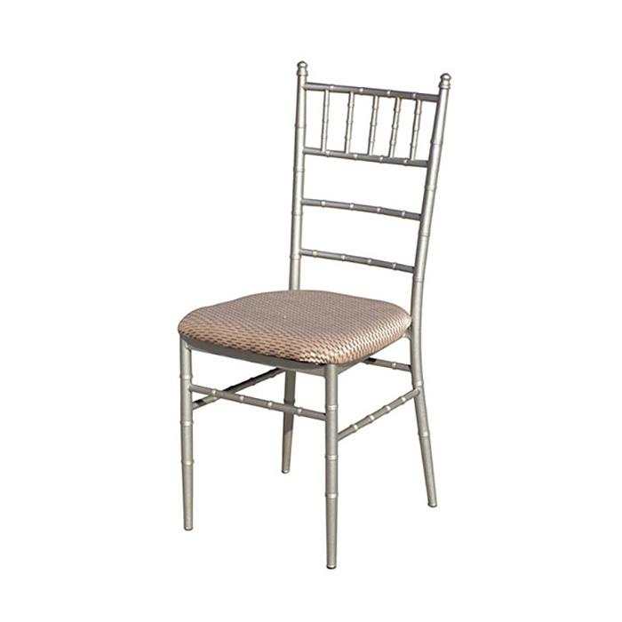 홀의자 철재대나무실버