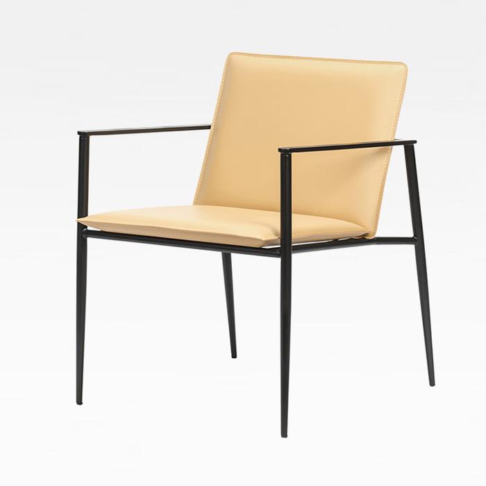 HES 베이스암(천연가죽)/철재 의자 식당 카페 체어