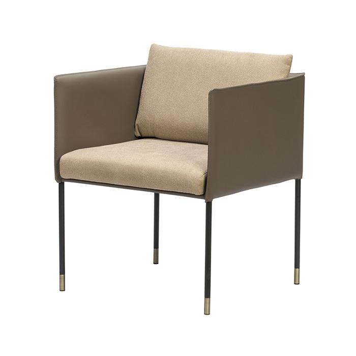 HES 스퀘어암(천연가죽)/철재 의자 식당 카페 체어