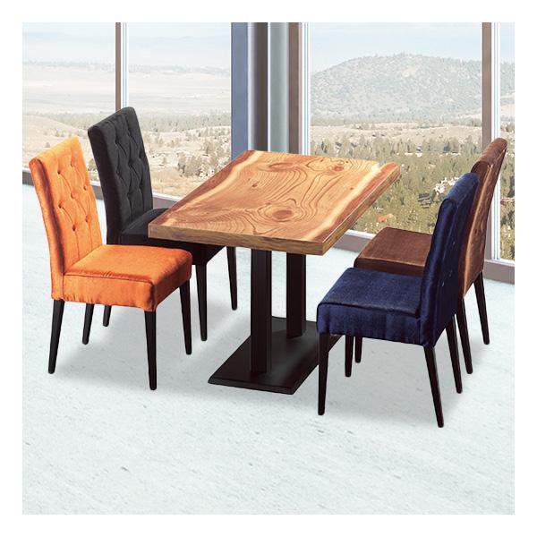 식탁테이블 4인세트 HK 철판다리+다이야의자