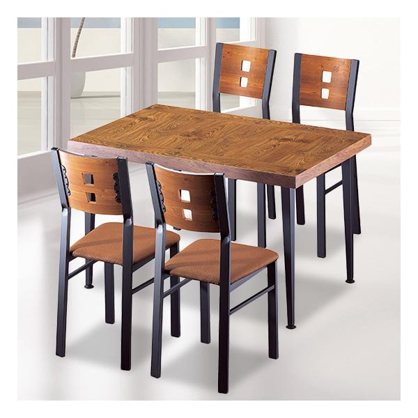 식탁테이블 4인세트 HK 사각홀쭉이+각등의자