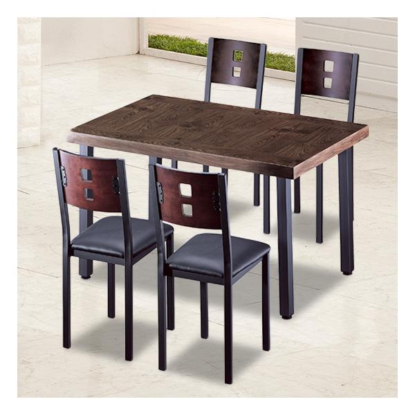 식탁테이블 4인세트 HK 60각+각등의자
