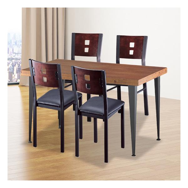 식탁테이블 4인세트 HK 절곡다리+각등의자
