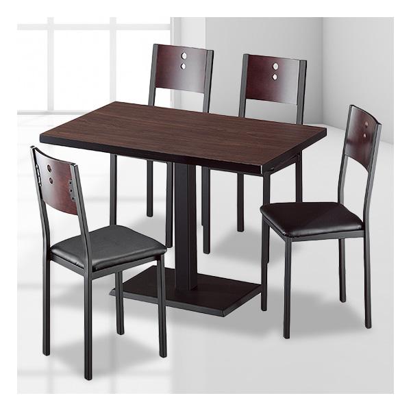 식탁테이블 4인세트 HK 철판다리+이구의자