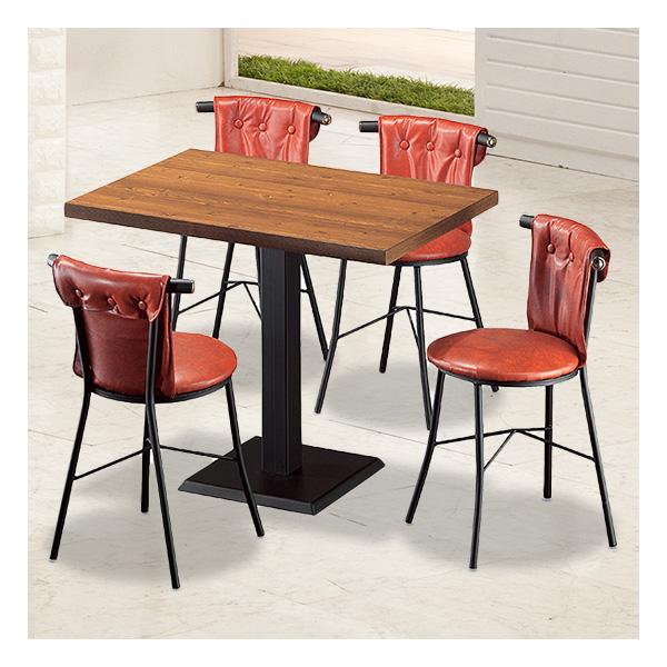 식탁테이블 4인세트 HK 철판다리+신라운드의자