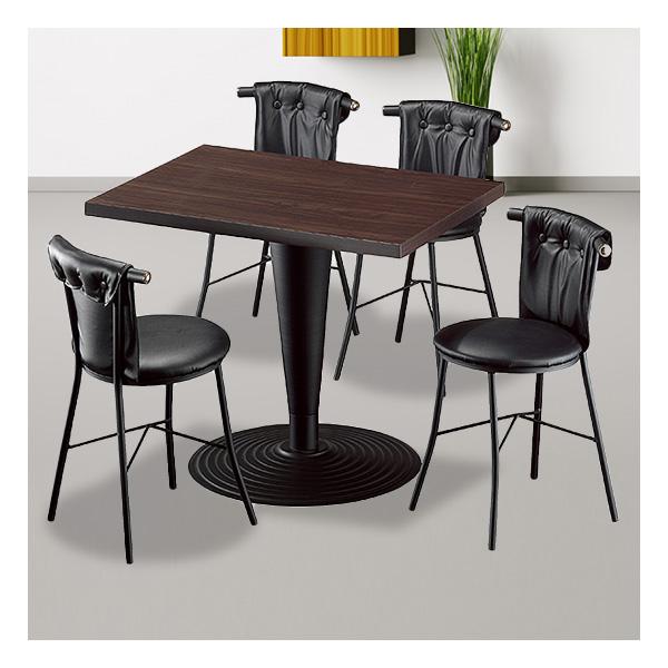 식탁테이블 4인세트 HK 주름다리+신라운드단추의자