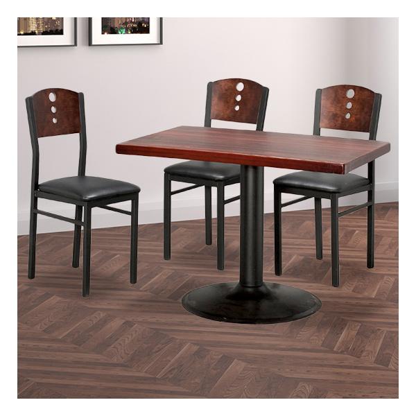 식탁테이블 4인세트 HK 원반다리+삼구의자