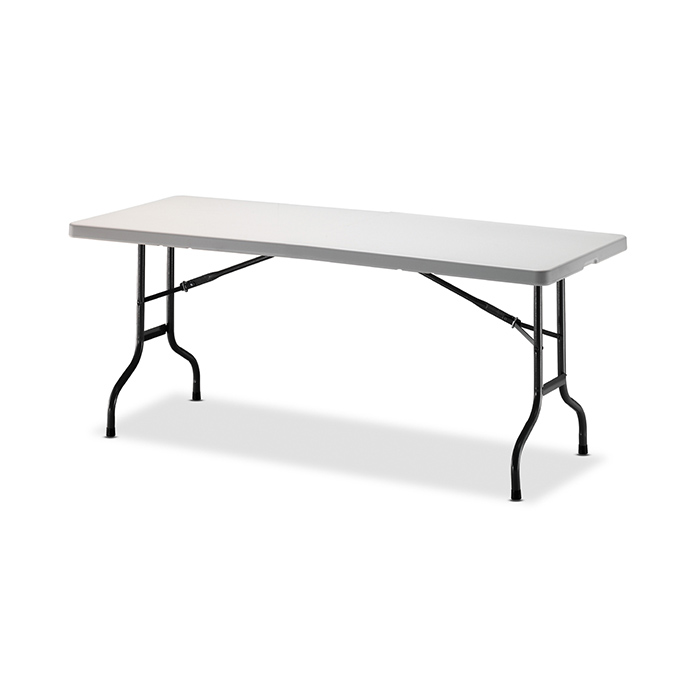 HLT-606 브로몰딩 철재 테이블 (상판고정식/접이식)