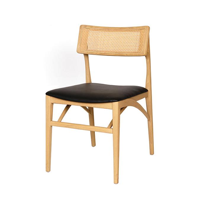 HV 자바화이트/인테리어 원목 식탁 의자 카페 디자인 체어