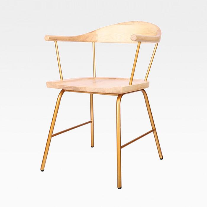 HWG 오즈/철재 골드 의자 인테리어 카페 체어 식당