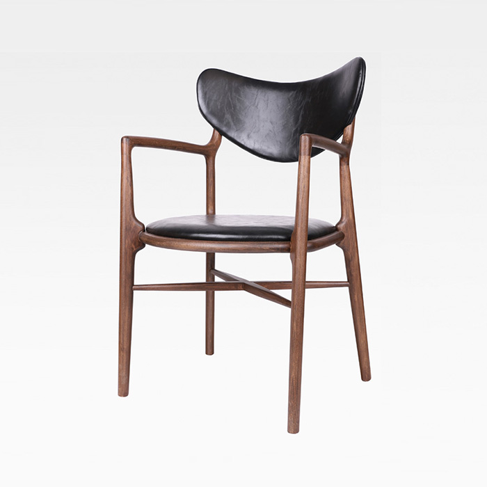 HWW 하트/목재 의자 인테리어 카페 체어 식당 원목