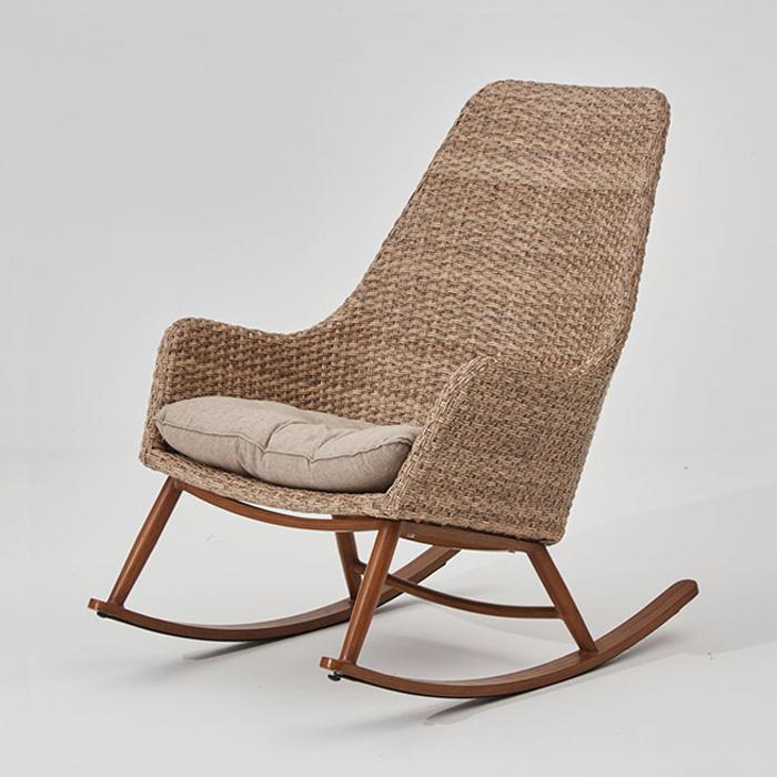 IGS-300(방석포함)/안락 흔들 의자 라탄 카페 체어