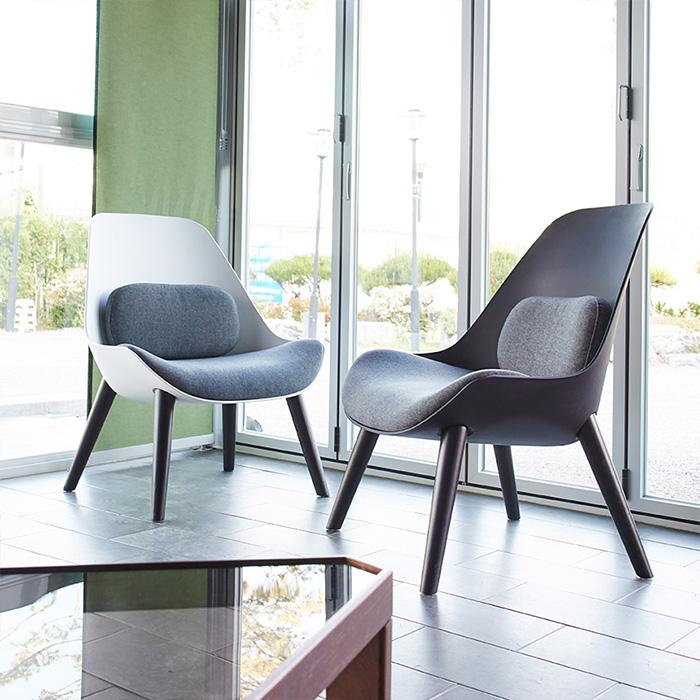 IGW-129 패브릭,사출 우드다리 의자