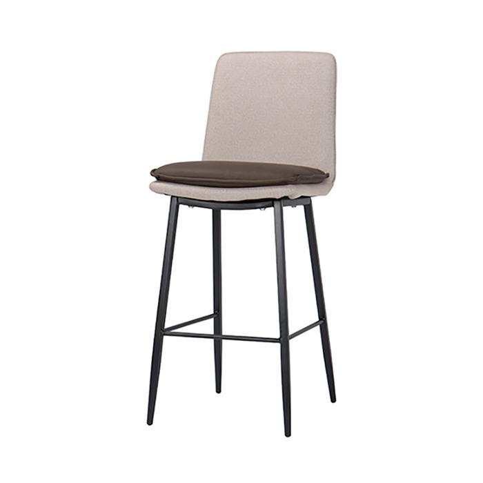 NIB-671 PU(방석)패브릭 철제빠의자