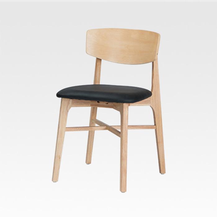 NIW-113 PU(인조가죽)고무나무 원목의자