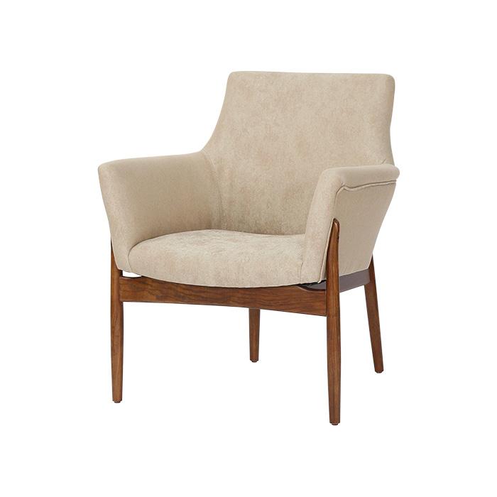 NIF-340W PU(인조가죽)/패브릭+에쉬목재의자 (1인)