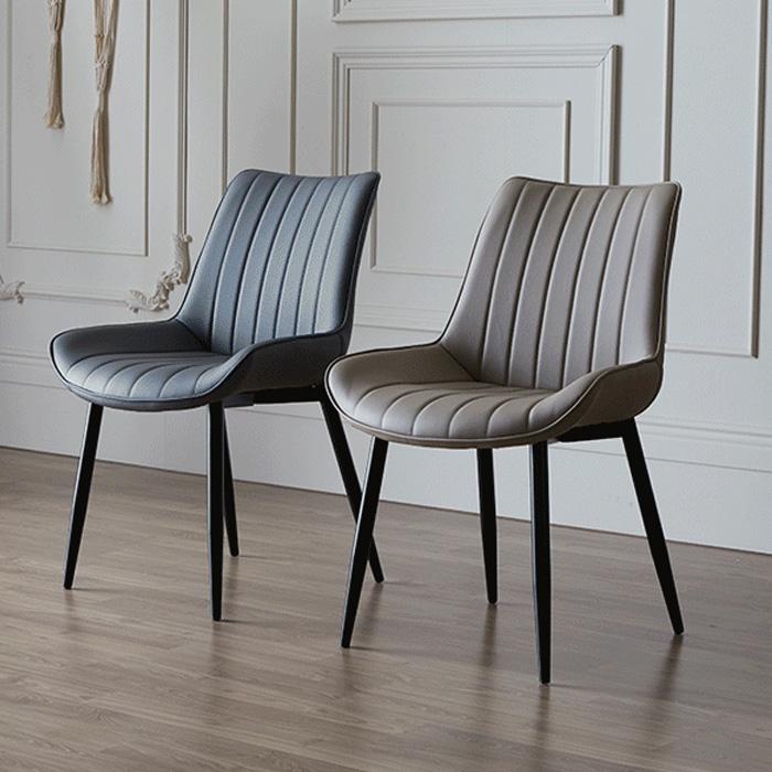 NIS-672 PU(인조가죽) 철재 의자