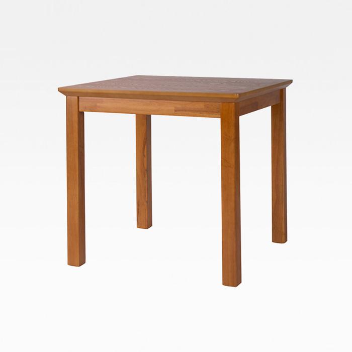 NIT-7005 천연에쉬무늬목(MDF 35T)+고무나무 원목테이블(2인)