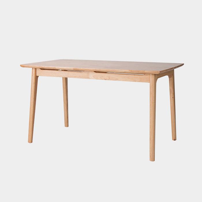 NIT-7018 집성목 25T상판 고무나무테이블
