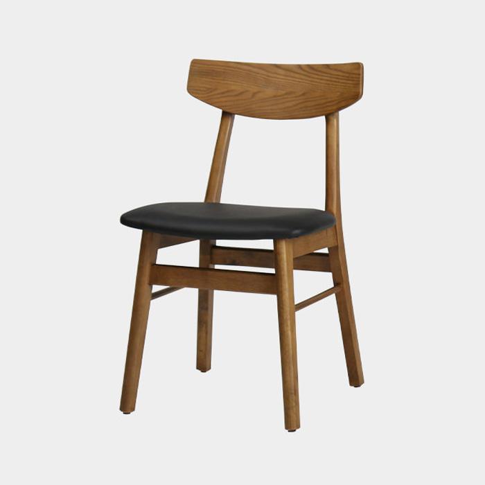 NIW 제트 PU+고무나무 원목의자