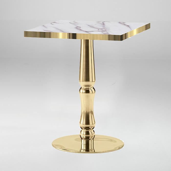 OE 골드도금 철재 테이블(인조대리석)