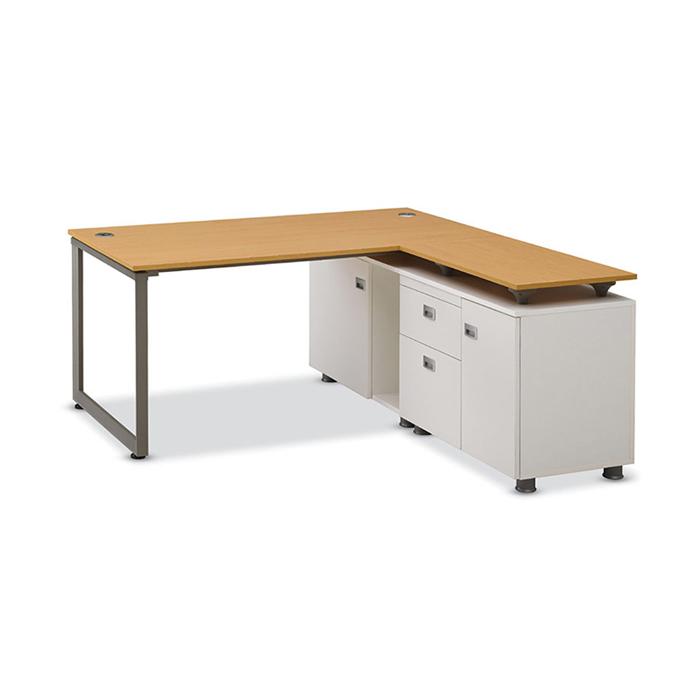 알펜 조합형 책상/사무 컴퓨터 1인 세트 2단 브라켓