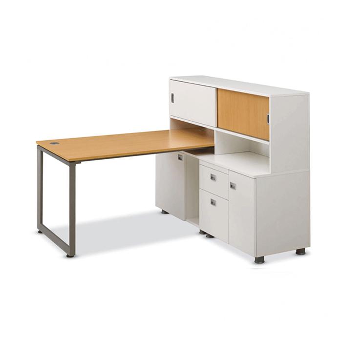알펜 조합형 책상/1인 세트 사무 컴퓨터 2단 서랍