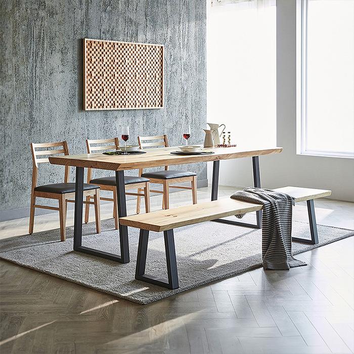 OIT 하이드 내추럴 뉴송 원목 테이블&벤치&식탁의자