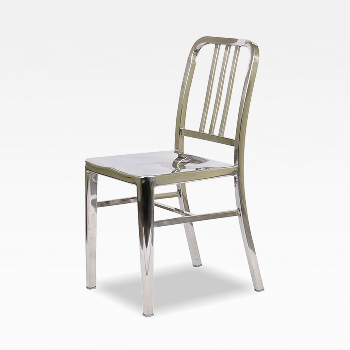 PA 네이비 스텐레스/인테리어 스틸 의자 카페 체어