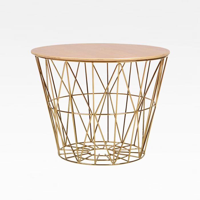 PA 바스켓/인테리어 골드 디자인 소파 좌탁 테이블