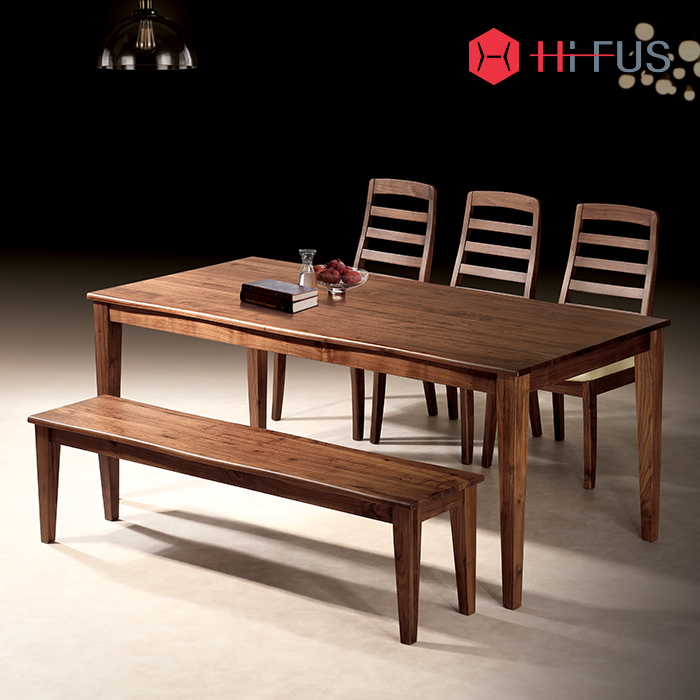 HFT-8821 로체티 4인 식탁 시리즈 (호두나무원목)