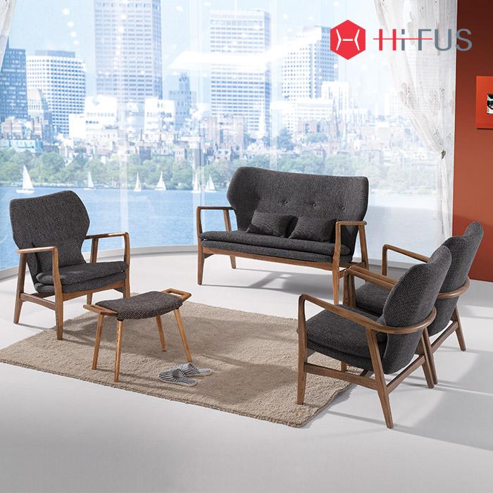 하이퍼스 HFS-3301,3302,3303 루디/원목 소파 1인 2인