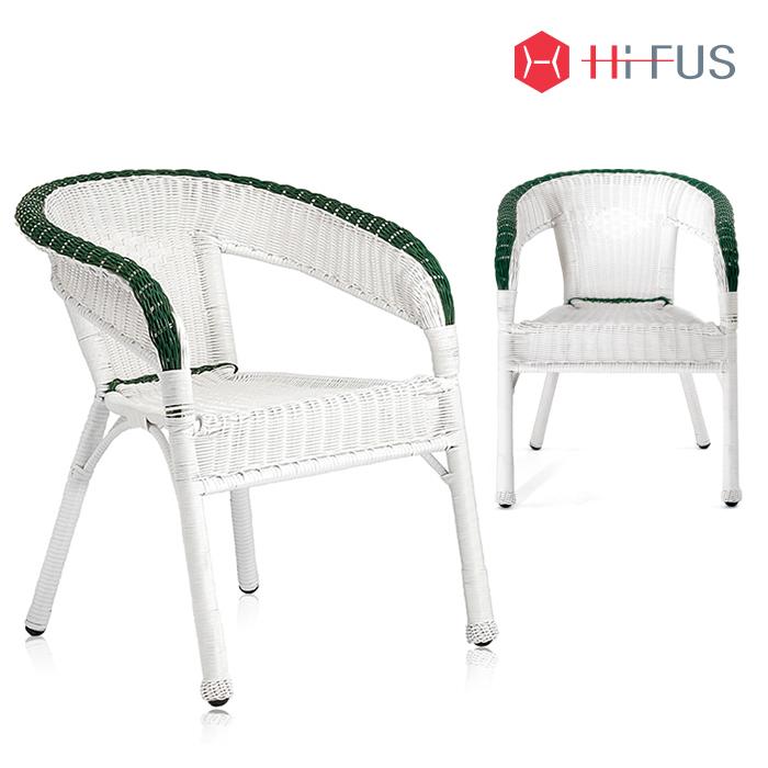 라쿤 화이트 라탄 의자(HFC-5723)